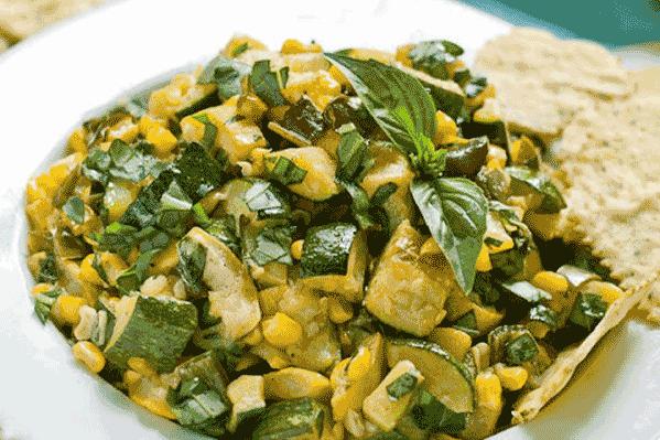 Zucchini Corn Salsa - Mysagegourmet